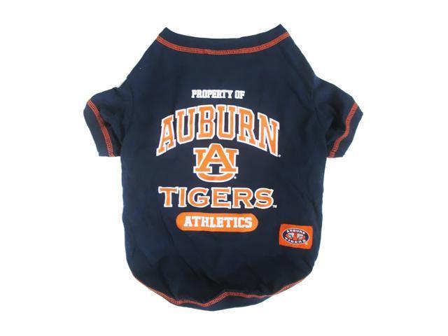 Pets First Sports Team Logo Auburn Dog Tee Shirt Large