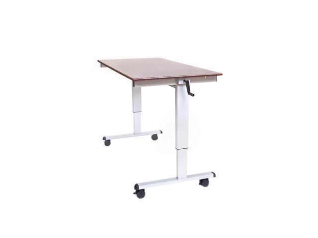 """DW 60"""" Crank Adjustable Computer Workstation Stand Up Desk-Newegg.com"""