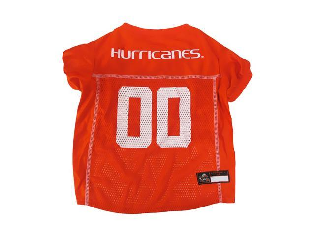 Pets First Sports Team Logo Miami Hurricanes Dog Jersey Xtra Small