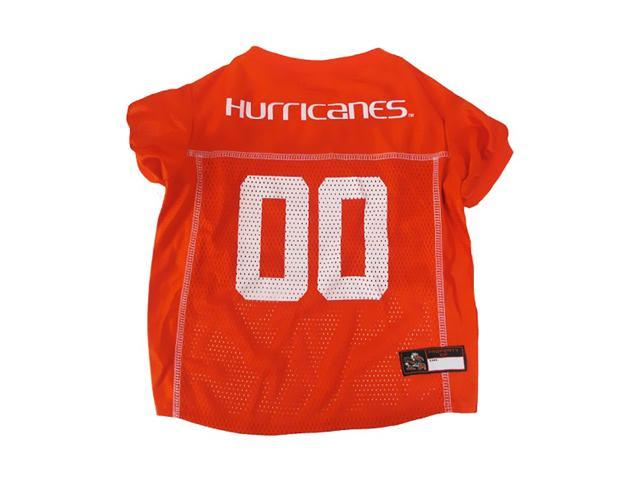 Pets First Sports Team Logo Miami Hurricanes Dog Jersey Large