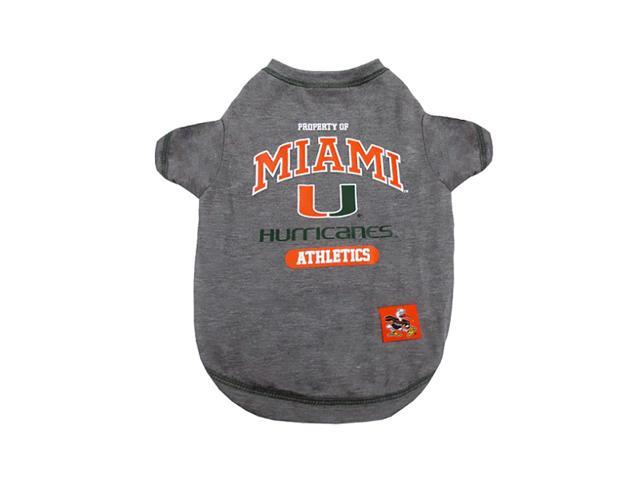 Pets First Sports Team Logo Miami Hurricanes Dog Tee Shirt Small