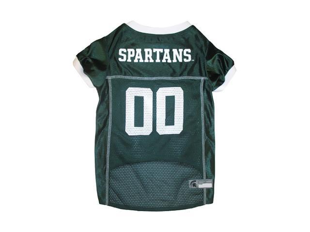 Pets First Sports Team Logo Michigan State Dog Jersey Large