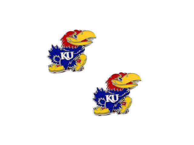 Kansas Jayhawks Post Stud Logo Earring Set Ncaa Charm