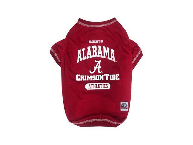 Pets First Sports Team Logo Alabama Dog Tee Shirt Large