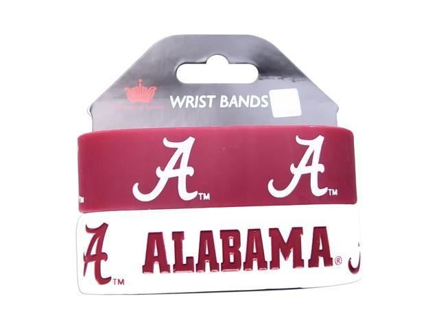 Alabama Tide Rubber Wrist Band (Set of 2) NCAA