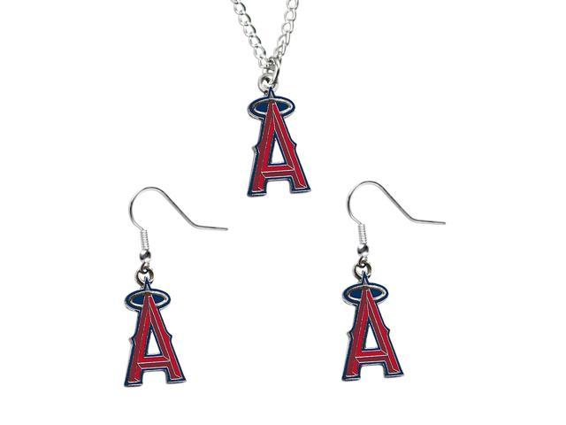 NCAA Los Angeles Angels Necklace And Dangle Earring Set Charm