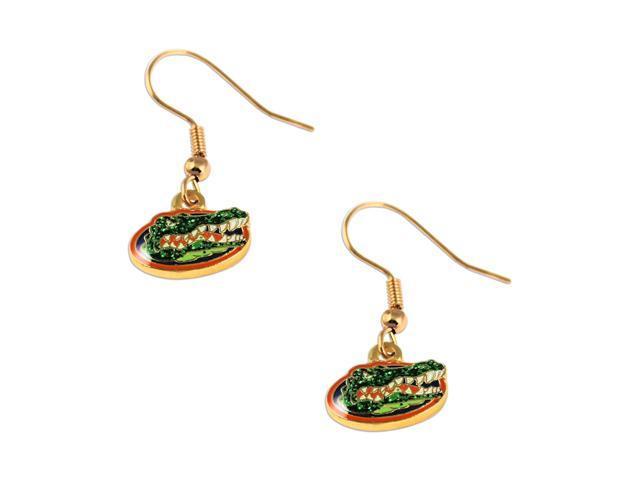 Florida Gators Glitter Sparkle Dangle Logo Earring Set Charm Gift