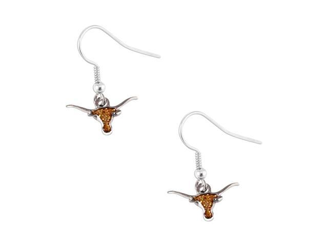 Texas Longhorns Glitter Sparkle Dangle Logo Earring Set Charm Gift