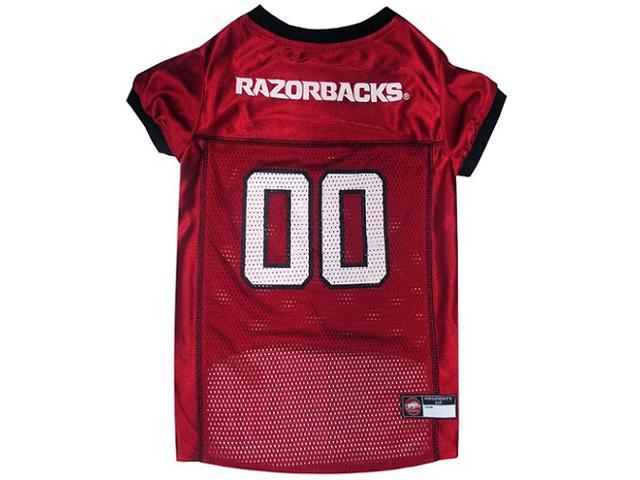 Pets First Sports Team Logo Arkansas Razorbacks Dog Jersey Xtra Small