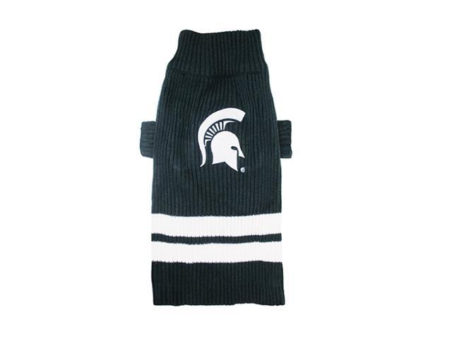 Pets First Sports Team Logo Michigan State Dog Sweater Small
