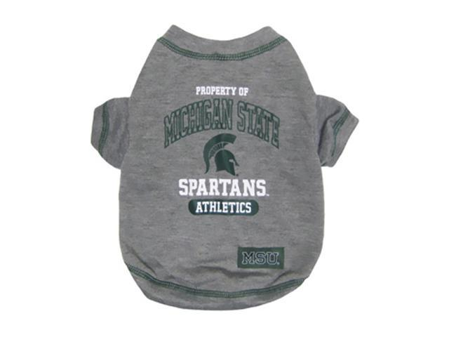Pets First Sports Team Logo Michigan State Dog Tee Shirt Large