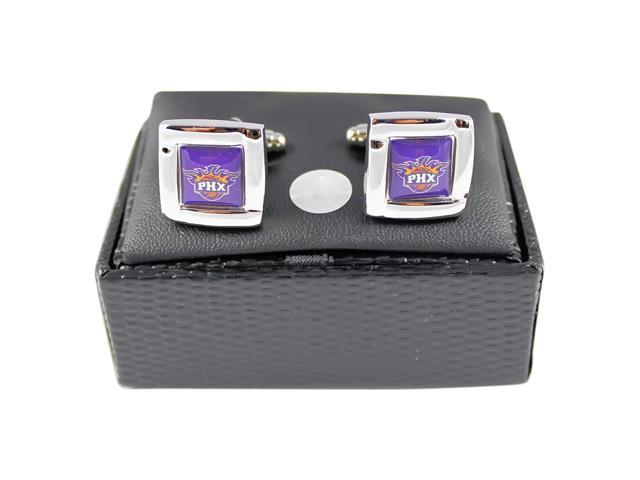 NBA Phoenix Suns Square Cufflinks with Square Shape Logo Design Gift Box Set