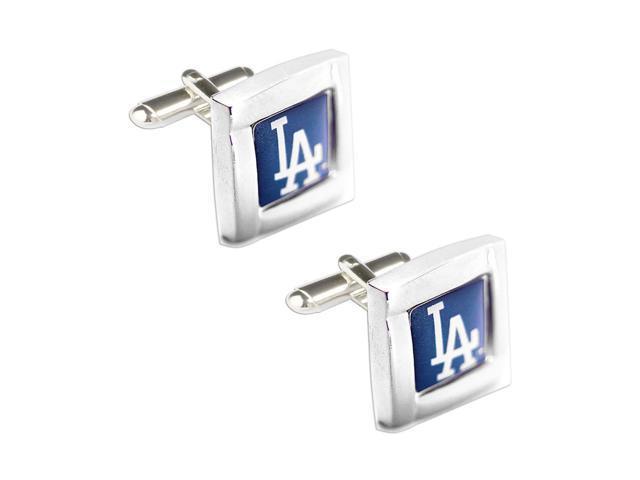 MLB LA Los Angeles Dodgers Square Cufflinks With Square Shape engraved Logo design Gift Box Set