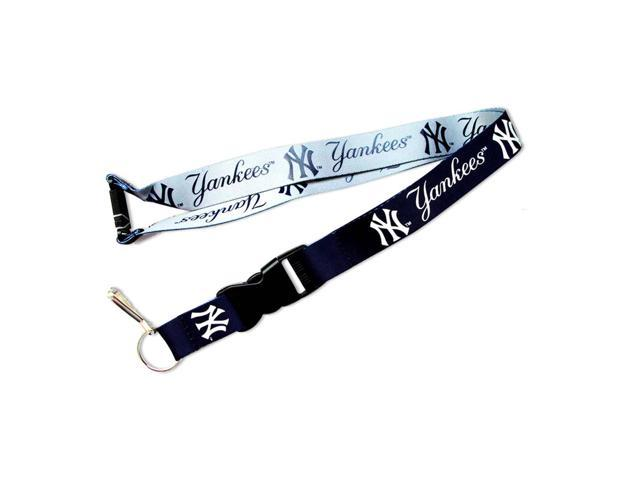 New York Yankees REVERSIBLE Clip Lanyard Keychain Id Ticket Holder
