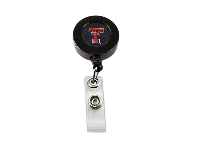 NCAA Texas Tech Raiders Team Logo Retractable Badge Reel Id Ticket Clip Holder
