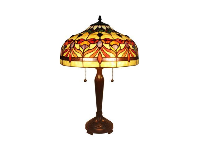Amora Lighting AM067TL16 Tiffany Style Floral Table Lamp 24