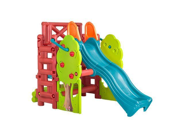 ECR4Kids Preschool Kids Children Outdoor Tree Top Climb and Slide - Vibrant