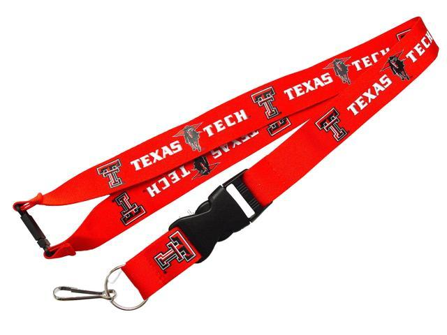 Texas Tech Raiders Clip Lanyard Keychain Id Holder Red