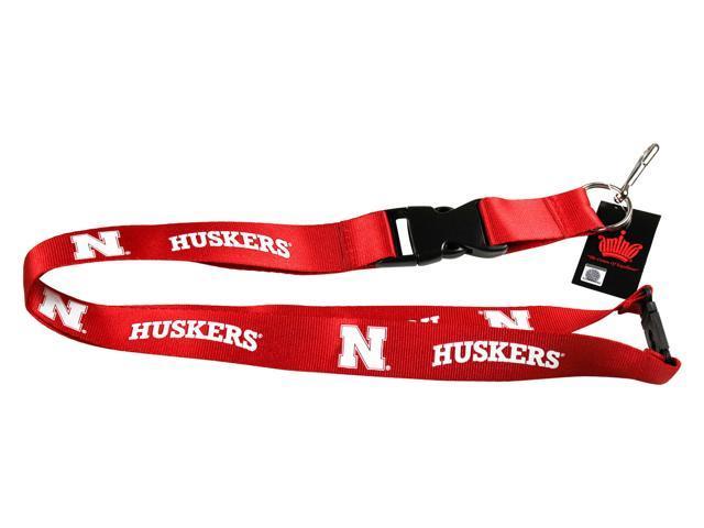 Nebraska Cornhuskers Lanyard Keychain Id Ticket Ncaa - Red