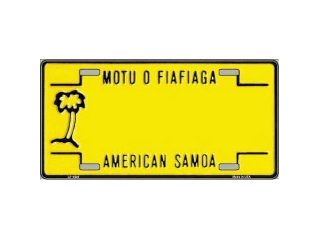 Smart Blonde American Samoa Novelty Background Customizable Vanity Metal License Plate Tag Sign