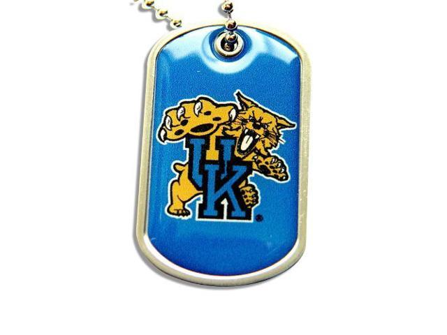 University of Kentucky Wildcats Dog Tag Domed Necklace Charm Chain Ncaa
