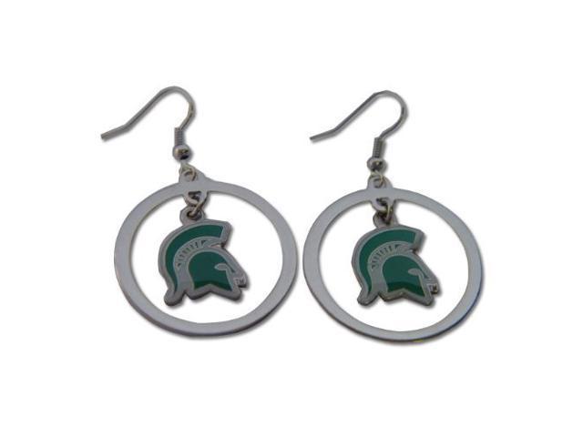 Michigan State Spartans Hoop Logo Earring Set Ncaa Charm