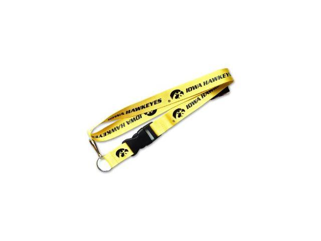 Iowa Hawkeyes Clip Lanyard Keychain Id Ticket - Yellow