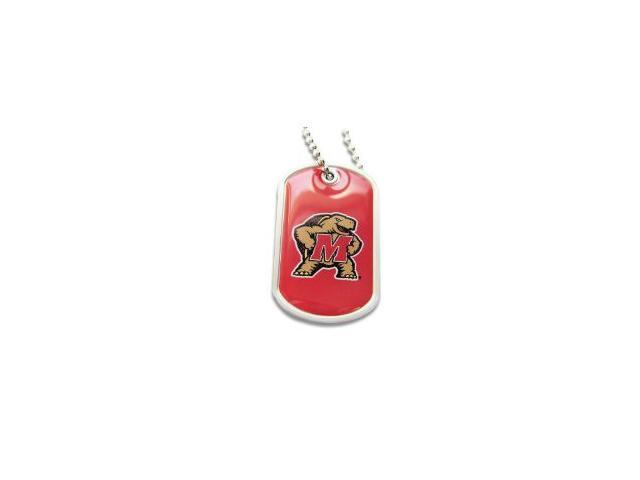 Maryland Terps Terrapins Dog Tag Domed Necklace Charm Chain