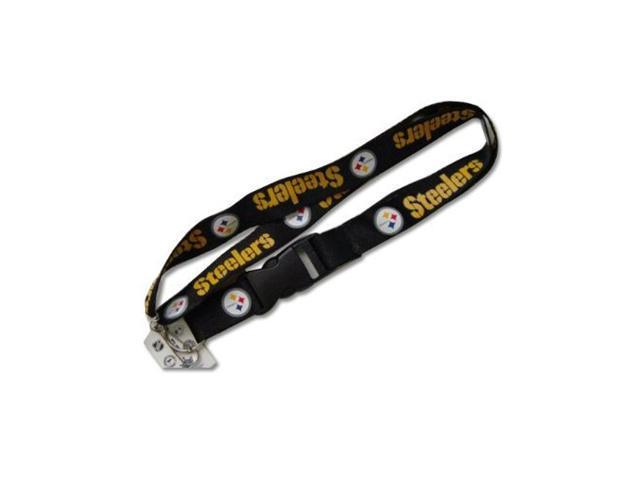 Pittsburgh Steelers Clip Lanyard Keychain Id Ticket Holder