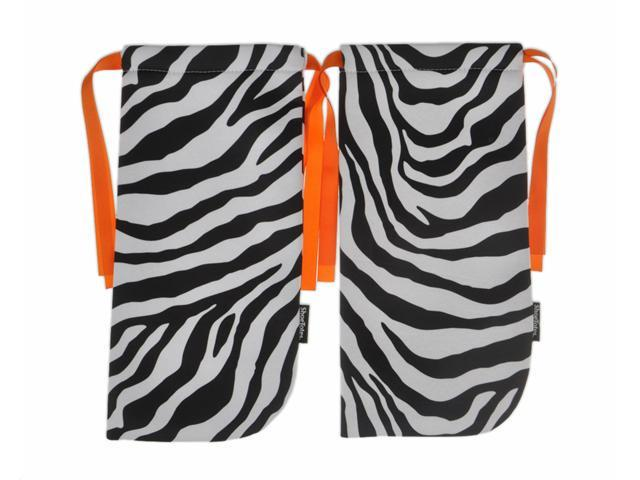 ShoeTotes in Zebra/Orange