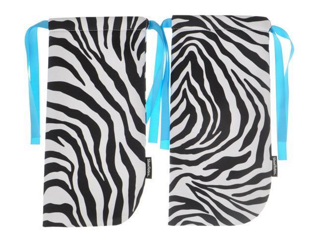 ShoeTotes in Zebra/Blue
