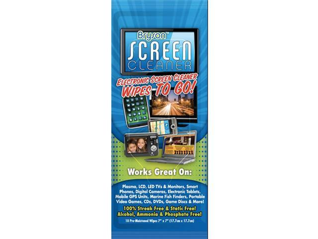 Bryson Citrusafe Alcohol-Free Screen Cleaner Wipes for 3D TV, LCD, LED, Plasma TV and Computer Screens