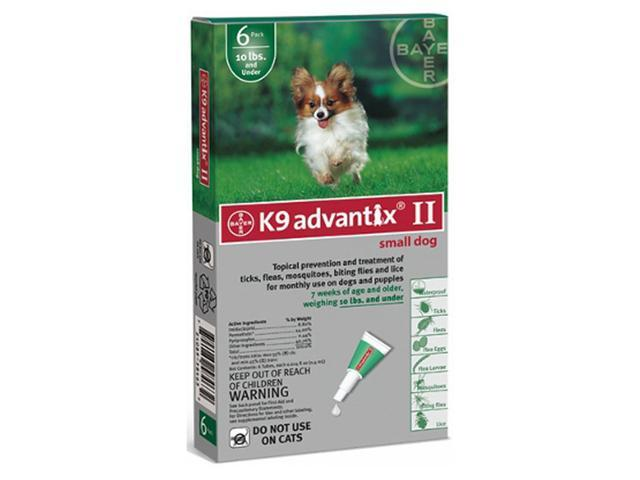 Advantix For Dogs Under 10 Lbs. 6 Month Supply