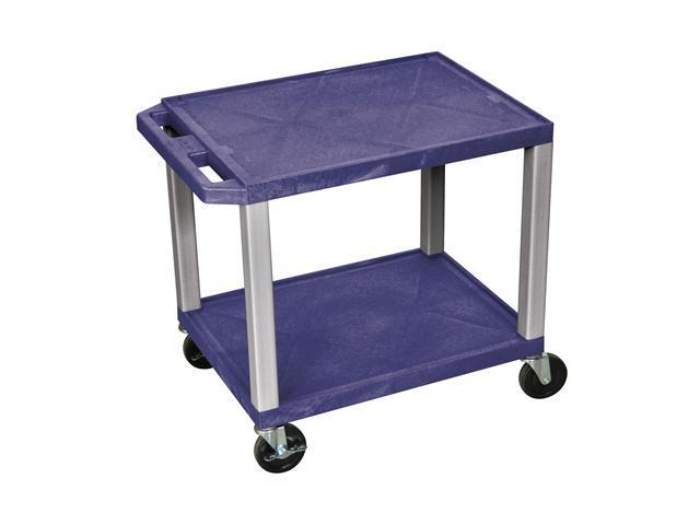 H. Wilson Portable Mobile Multipurpose Kitchen Storage Service Tuffy Utility Cart No Electric Topaz and Nickel