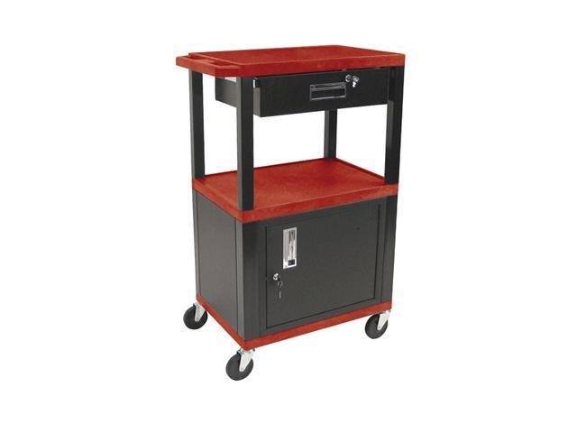 H Wilson Portable Mobile Multipurpose Kitchen Storage Service Tuffy Utility Cart With Cabinet