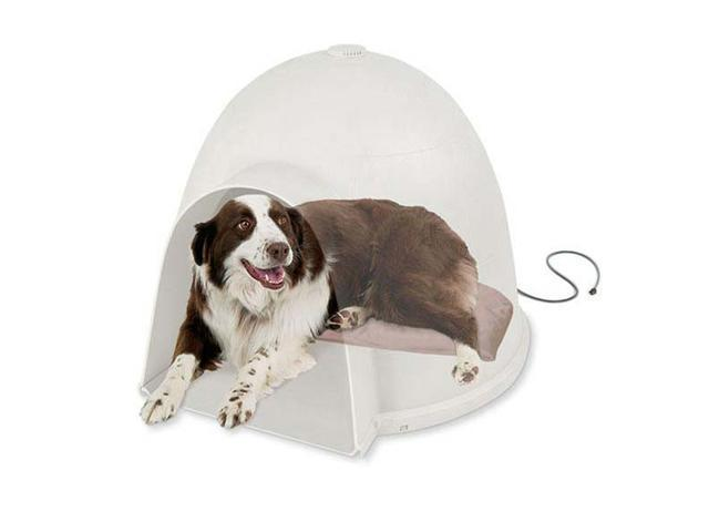 K&H Pet Products Lectro-Soft Igloo Style Bed Large 17.5