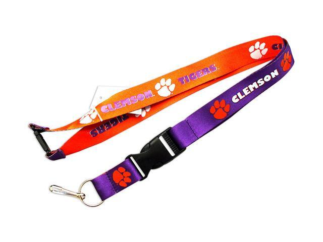 Clemson Tigers Reversible Lanyard Keychain Ticket ID Holder