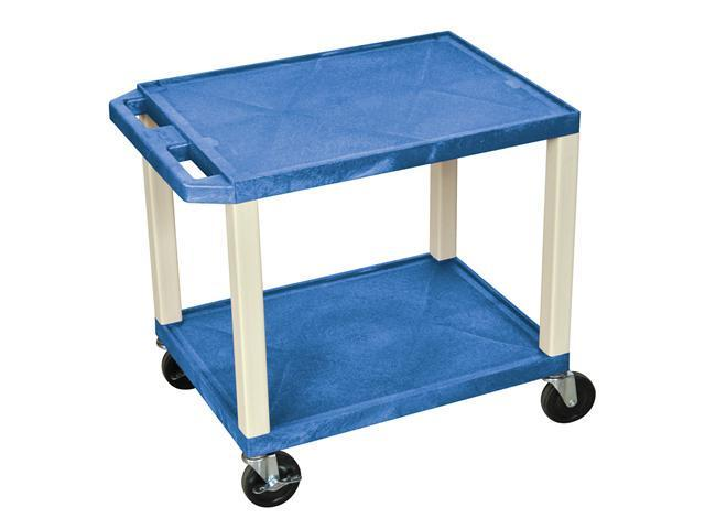 H. WILSON 2 Flat Shelves Mobile Multimedia Portable Multipurpose Tuffy Utility Storage Service Cart