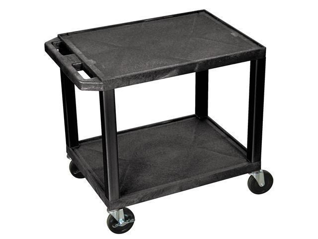 Tuffy 2-Shelf Multi-Purpose Utility Cart (Black)