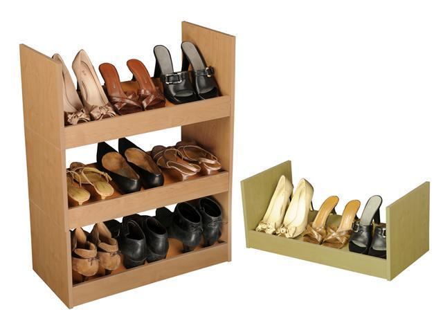 Venture Horizon Stackable Shoe Racks - Oak