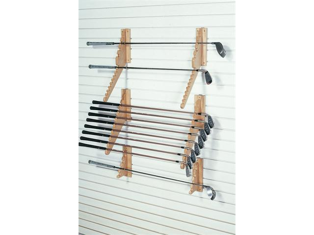 FA Edmunds Wall Mount Downslat Golf Club Set Display Cabinet Storage Rack Stand Holds 9 Irons
