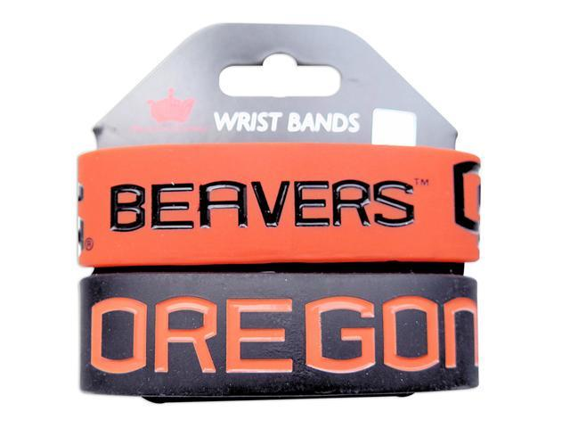 Oregon St Beavers Rubber Wrist Band (Set of 2) NCAA