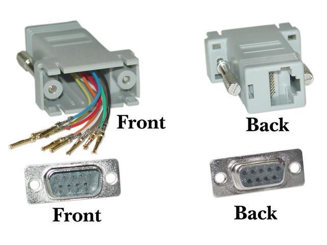 Cable Wholesale DB9 Male / RJ45 Modular Adapter - Color Gray