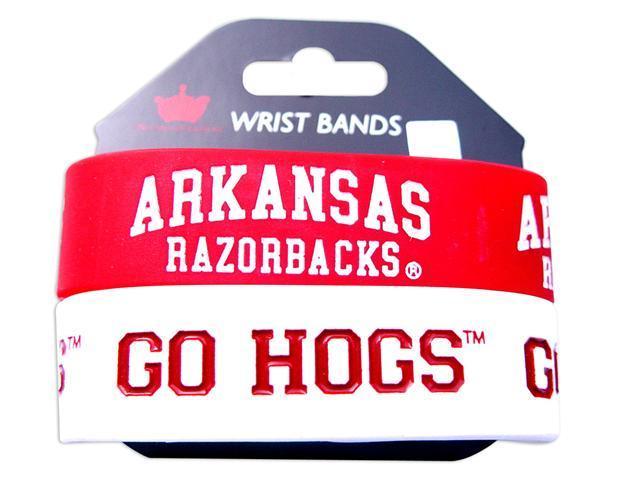 Arkansas Razorbacks Rubber Wrist Band (Set of 2) NCAA