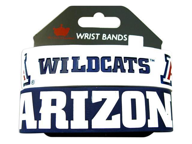 Arizona Wildcats Rubber Wrist Band (Set of 2) NCAA
