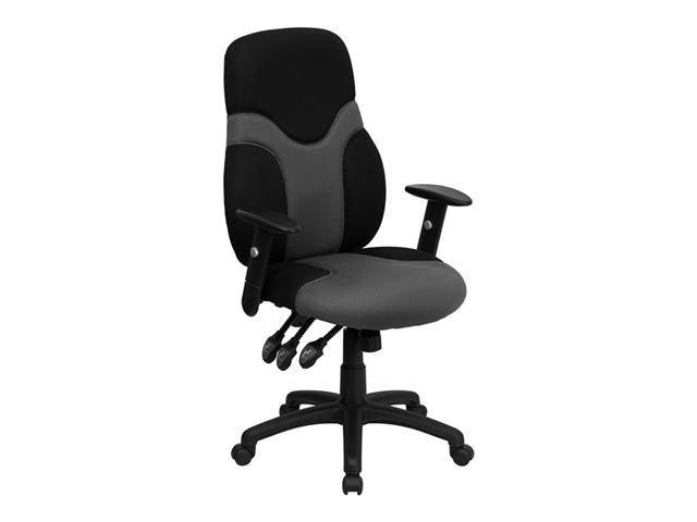 Offex High Back Ergonomic Black and Gray Mesh Task Chair with Adjustable Arms