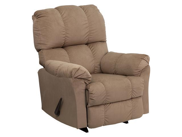 Contemporary Top Hat Coffee Micro Fiber Rocker Recliner By Flash Furniture