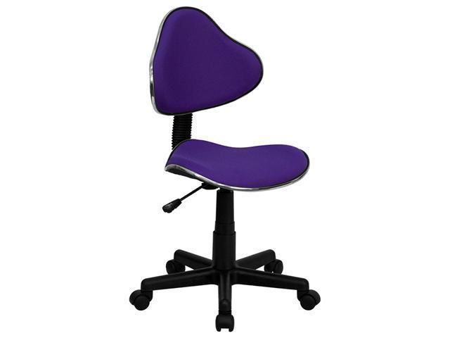 Flash Furniture Purple Fabric Ergonomic Task Chair [BT-699-PURPLE-GG]