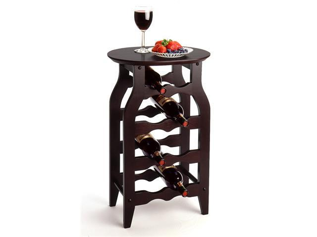 Winsome Solid Wood Wine Rack 8-Bottle - Dark Espresso Finish