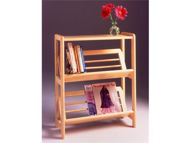 Winsome Solid / Composite Wood 2-Tier Bookshelf With Slanted Shelf - Beech Finish